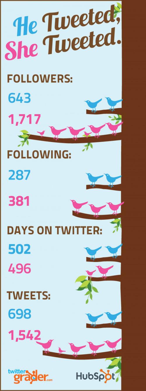 Las diferencias entre mujeres y hombres en Twitter