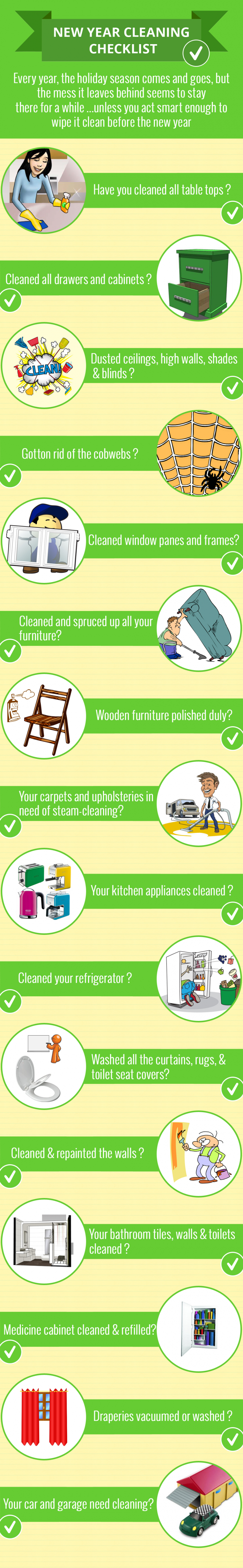 New Year Cleaning Checklist 2014