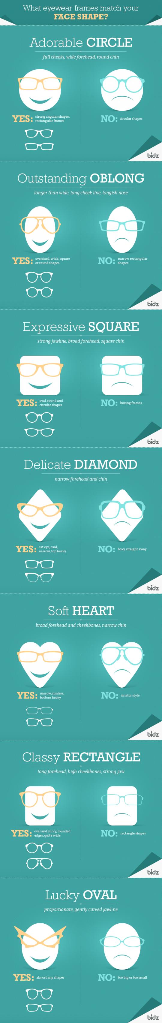 Eyeglass frames that match your face