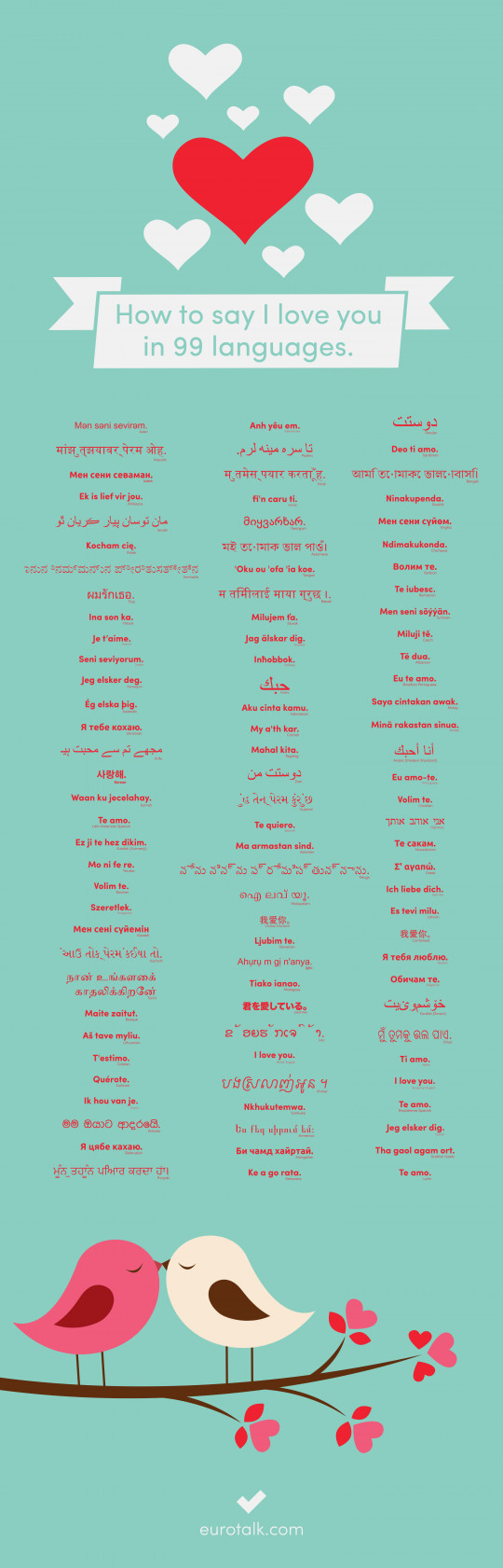 How To Say I Love You In 99 Languages