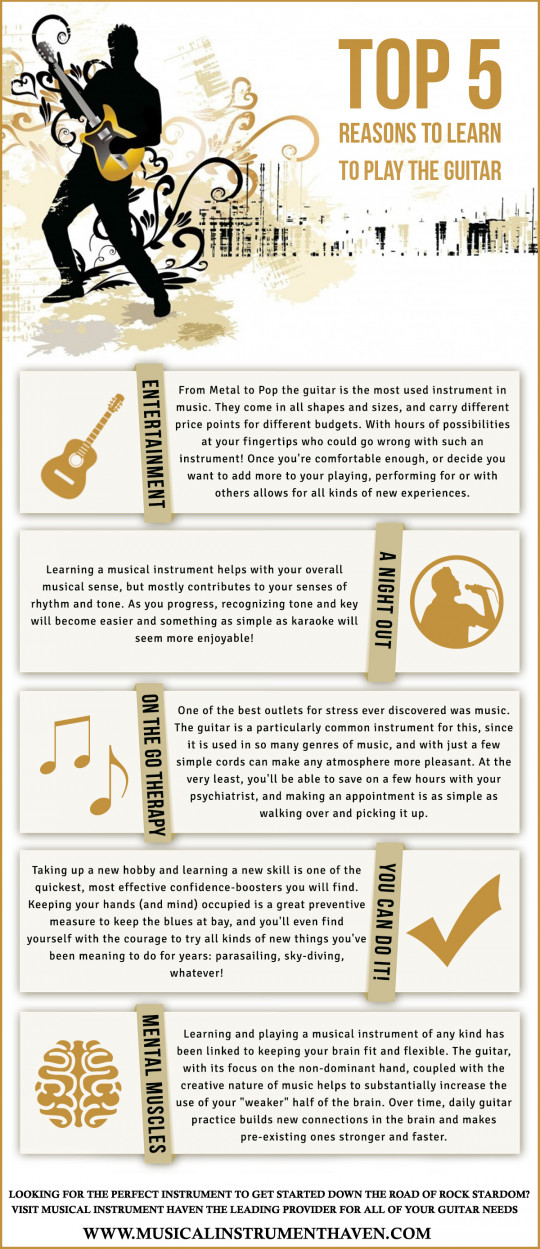 Top 5 Reasons To Learn To Play The Guitar