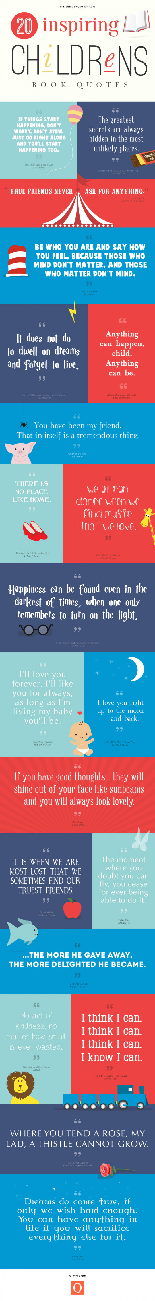 20 Inspiring Childrens Book Quotes Free Printables