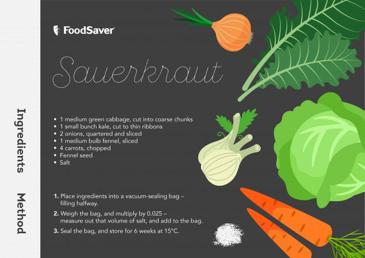 FoodSaver - Vacuum Sealed Sauerkraut Recipe