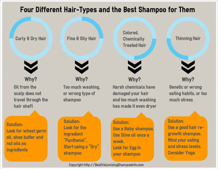 Four Different Hair-Types And The Best Shampoo For Them