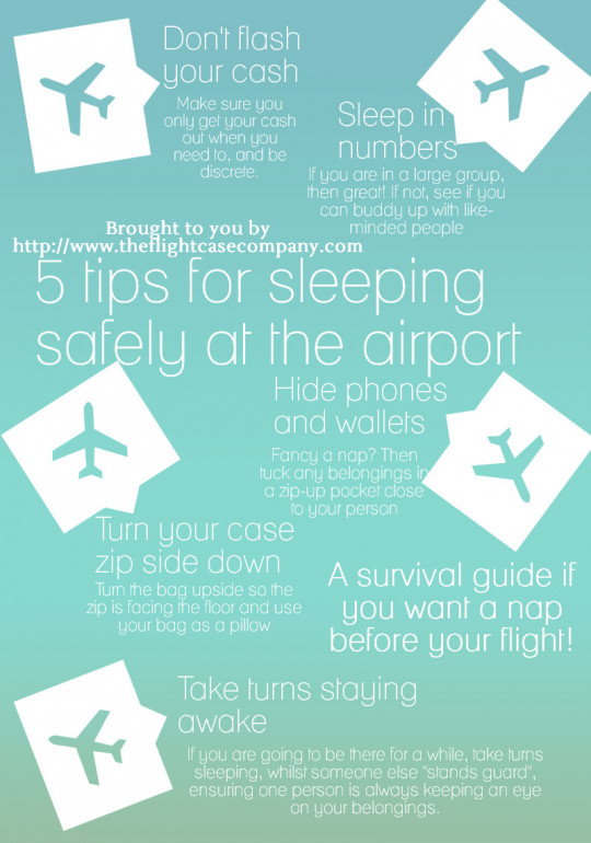 5 Tips for Sleeping Safely at the Airport