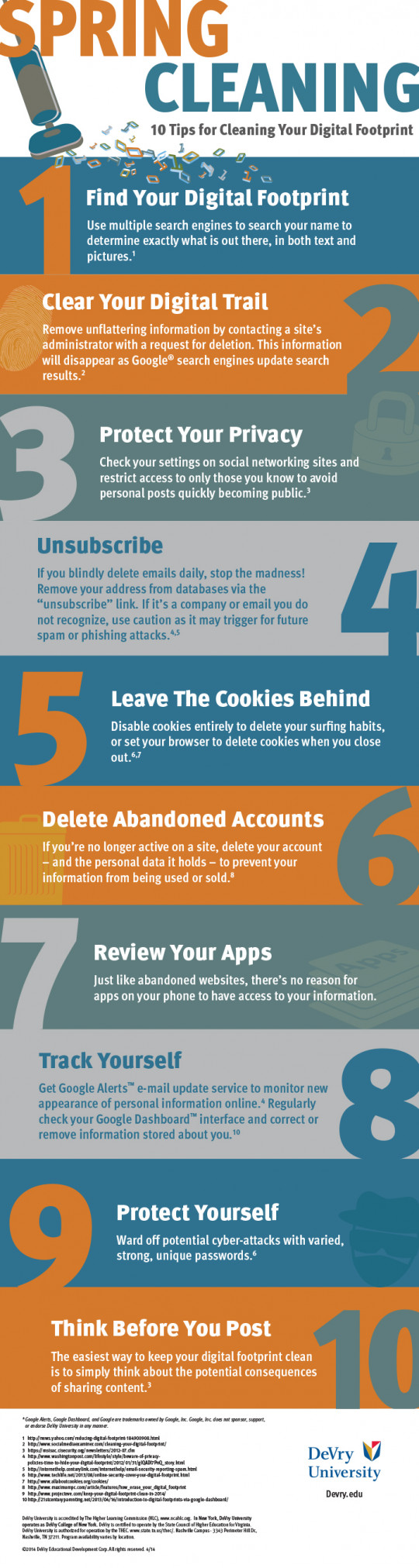 Spring Cleaning - 10 Tips for a Cleaning Your Digital Footprint