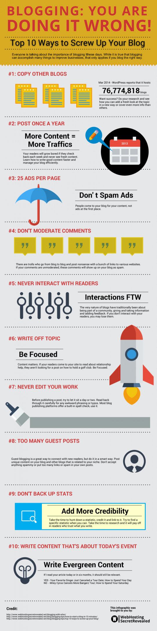 Top 10 Ways To Screw Up Your Blog