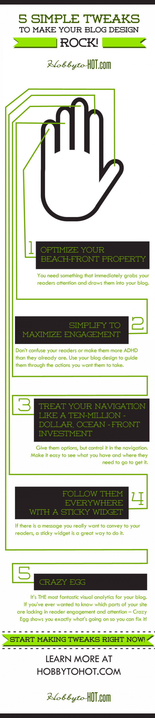 Have a better blogging experience by avoiding these crazy blog design mistakes using these 5 awesome tweaks!