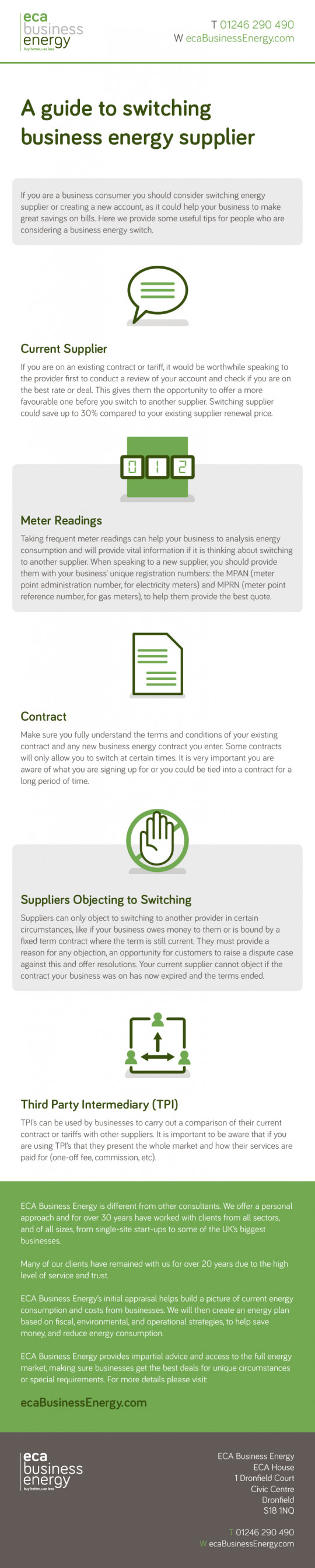 A Guide to Switching Business Energy Supplier