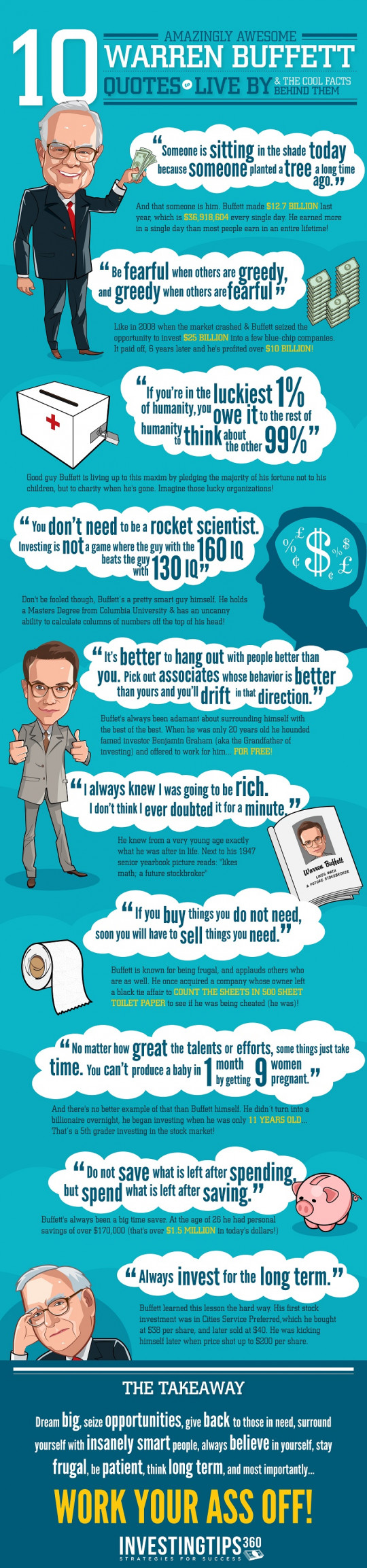 10 Amazingly Awesome Warren Buffett Quotes to Live By...& The Cool Facts Behind Them