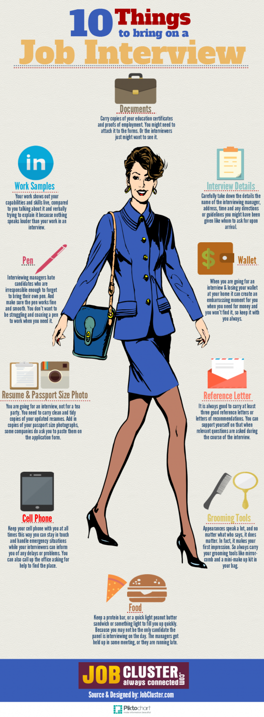 10 Essential Things to Bring on a Job Interview
