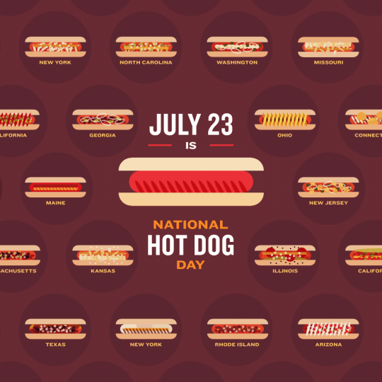 July 23rd is National Hot Dog Day!