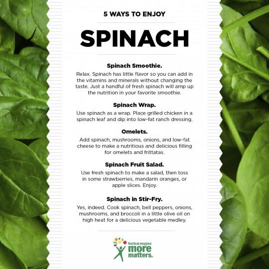 5 Ways to Enjoy Spinach