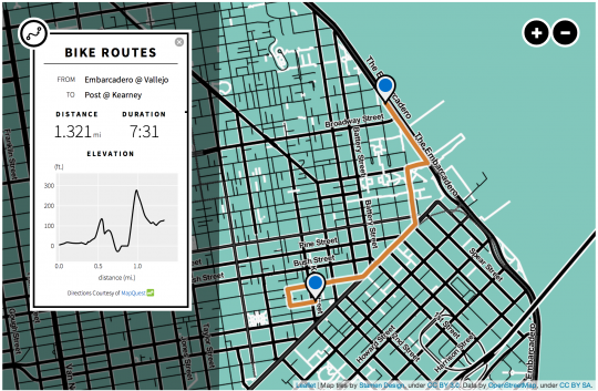 Bay Area Bike Share Interactive Map