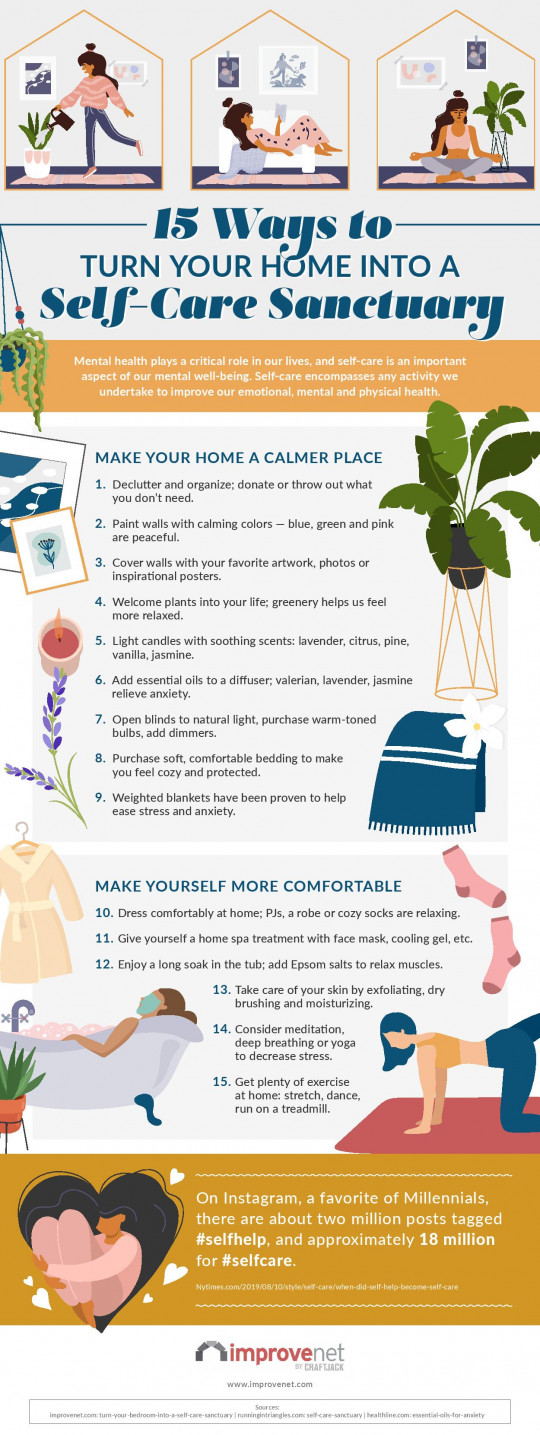 1830042? w=540 - 15 Ways to Turn your Home into a Self Care Santuary - [INFOGRAPHICS]