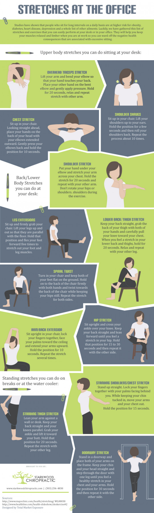 Portland Chiropractor Tips for Stretches at Work
