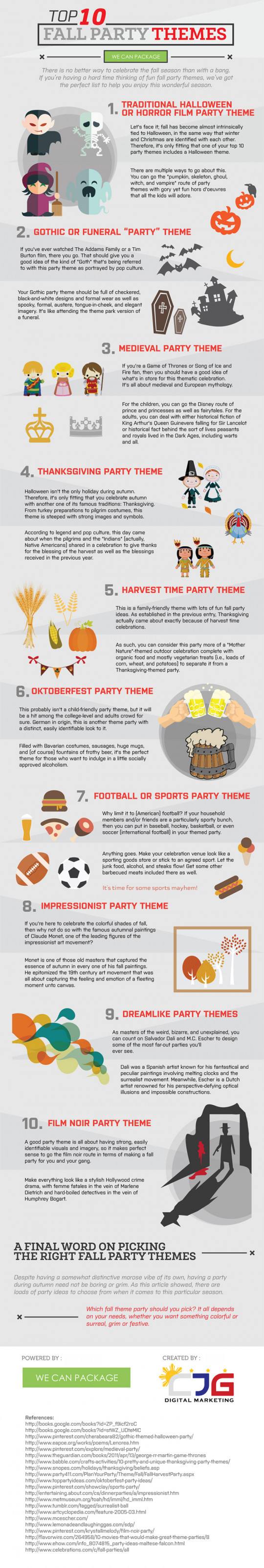 Top 10 Fall Party Themes