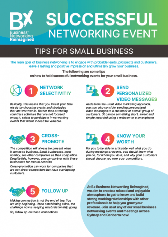 5 Networking Tips for Small Business