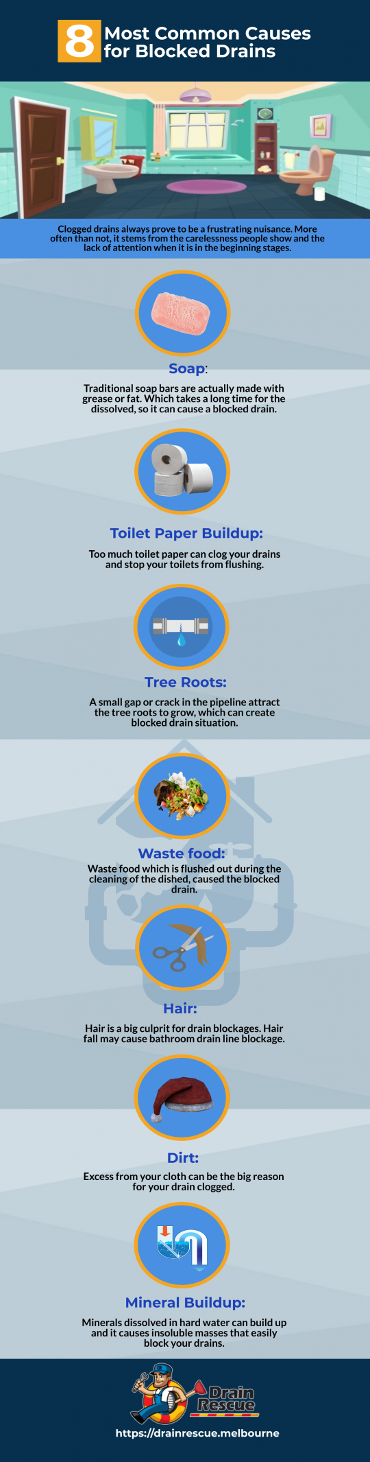 8 Most common causes for blocked drains