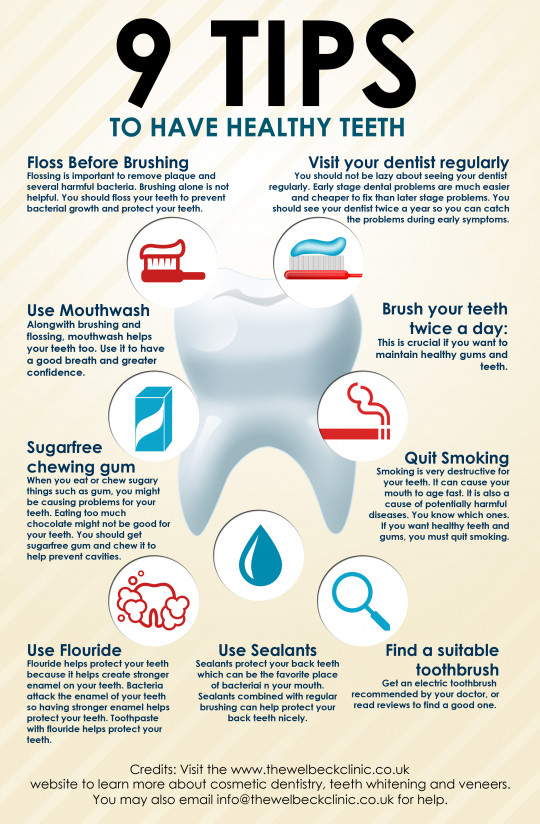 9 Tips For Healthy Teeth