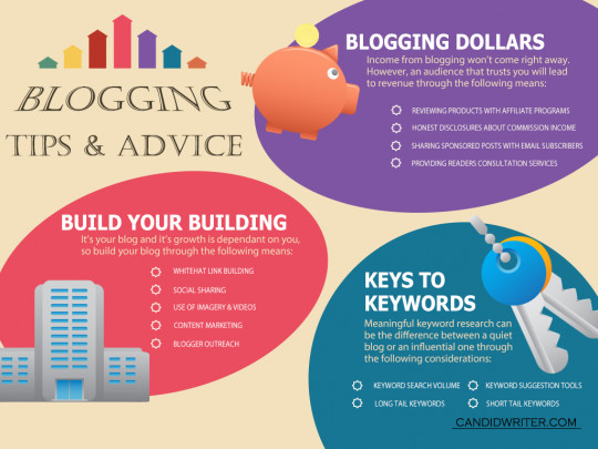 Blogging Tips And Advice Infographic