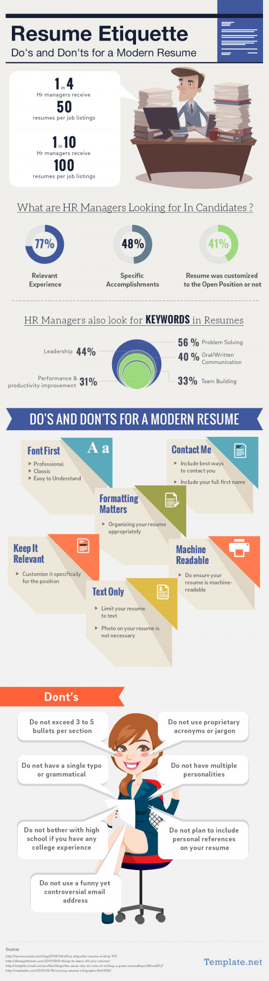 Resume Etiquette Do's & Don'ts for a Resume Template