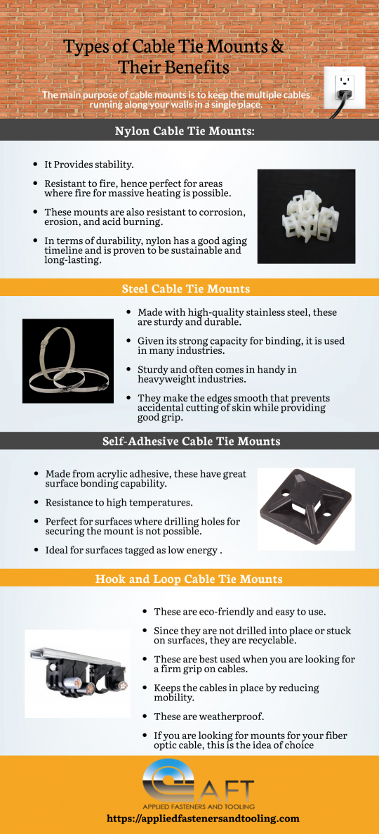 Types of Cable Tie Mounts & Their Benefits