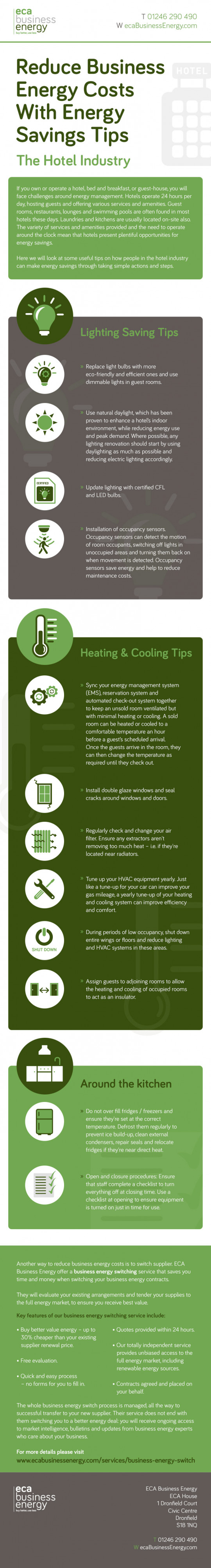 Reduce Business Energy Costs With Energy Saving Tips - The Hotel Industry