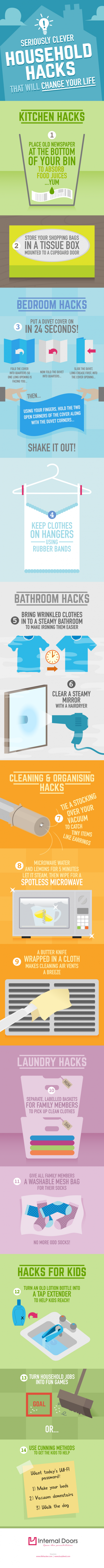 Seriously Clever Household Hacks That Will Change Your Life  |  RobynsOnlineWorld.com