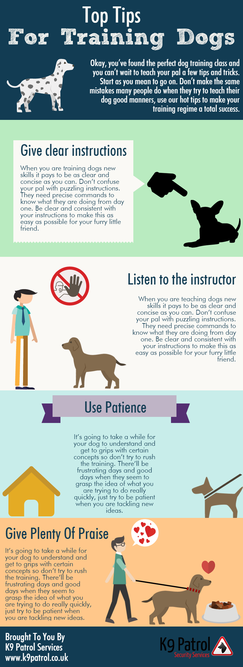 Top Tips For Training Dogs