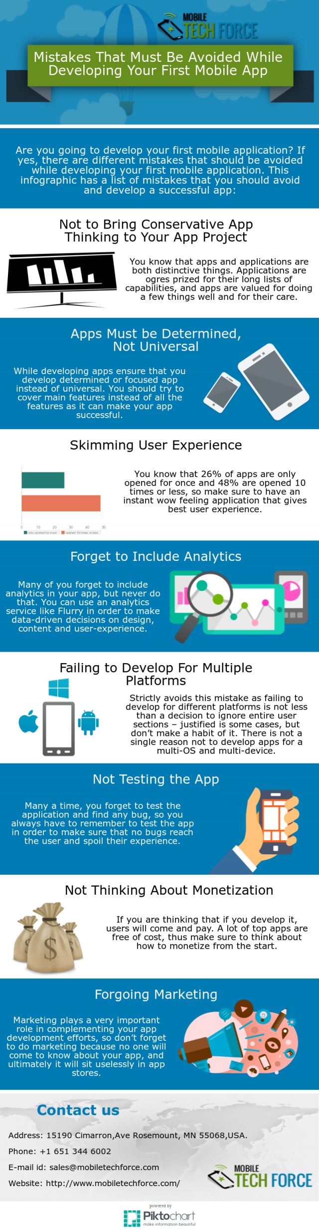 Mistakes That Must Be Avoided While Developing Your First Mobile App