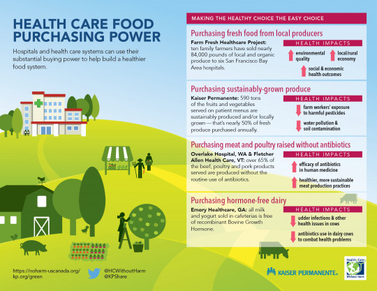 Infographics: How health care can strengthen the food system