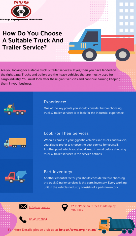 How Do You Choose A Suitable Truck And Trailer Service?