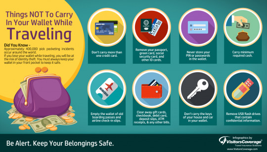 Things Not To Carry In Your Wallet or Purse While Traveling