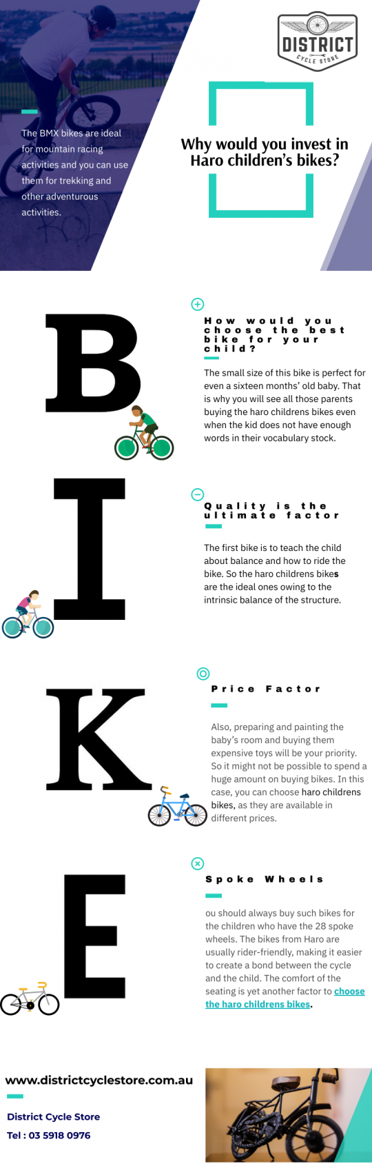 Why would you invest in Haro children's bikes?