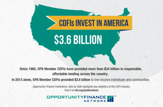 CDFIs Provide Opportunity For All