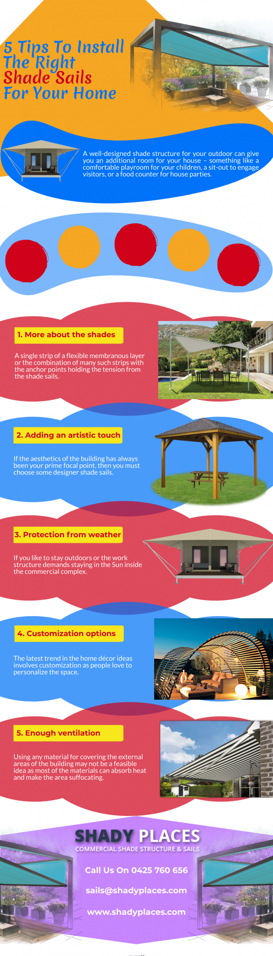 5 Tips To Install The Right Shade Sails For Your Home