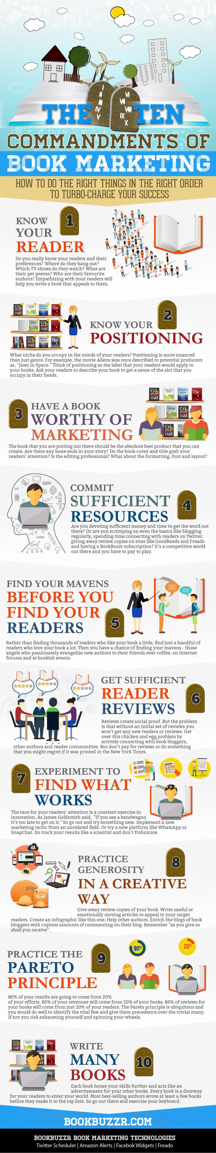 The Ten Commandments of Book Marketing
