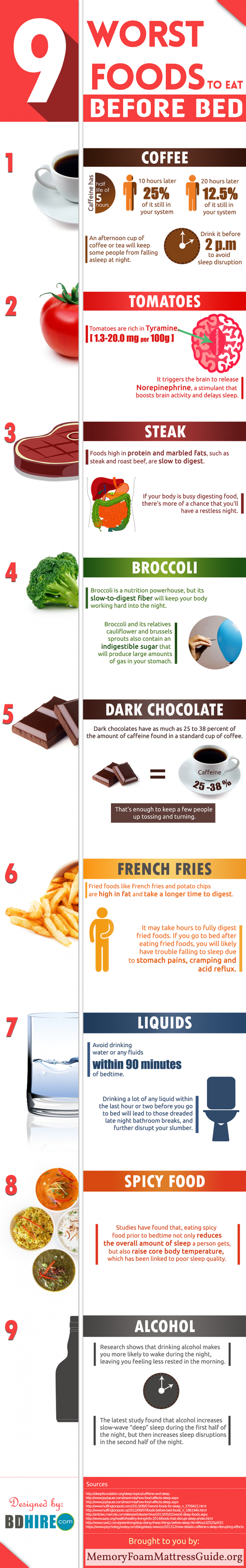 9 Worst Foods To Eat Before Bed (Infographic)