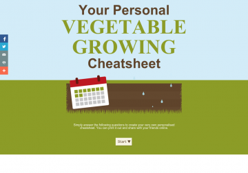 Your Personal Vegetable Growing Cheatsheet