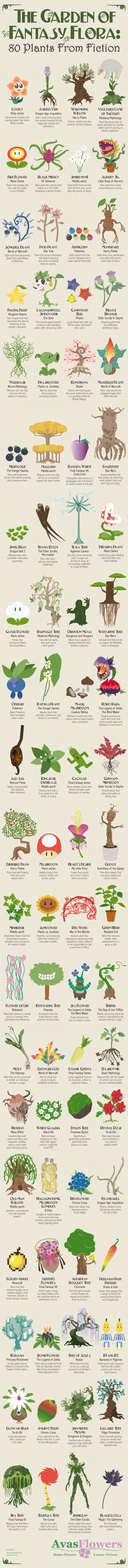 80 Plants From Fiction Plantae Community
