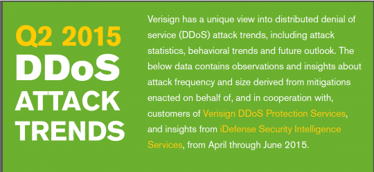 Verisign DDoS Trends Report - Q2 2015