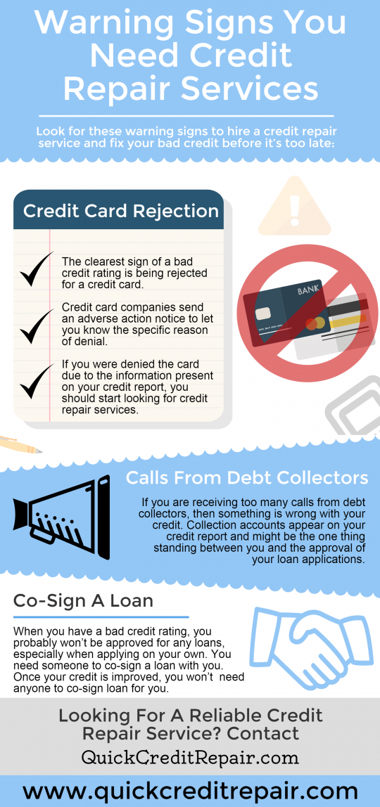 Warning Signs You Need Credit Repair Services