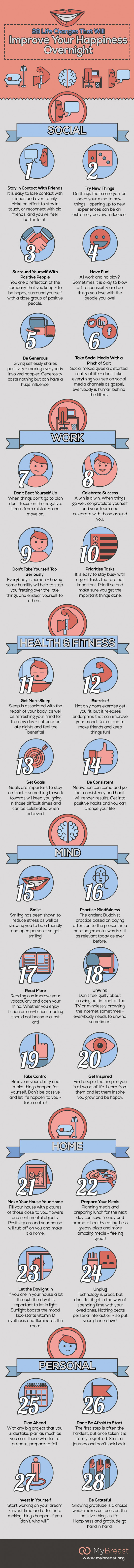28 Life Changes That Will Improve Your Happiness Overnight