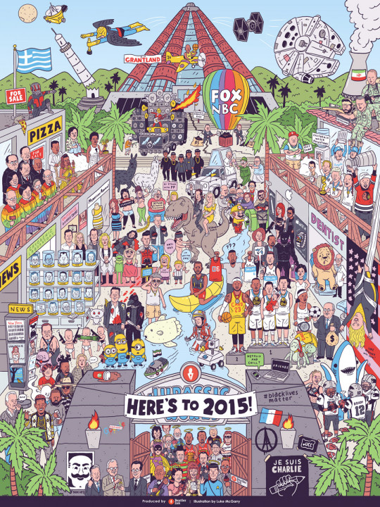 2015 Pop Culture Mashup (Illustration)
