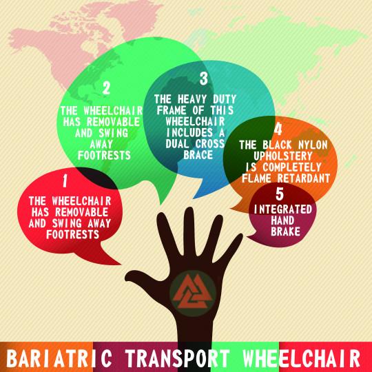 Bariatric Transport Wheelchair