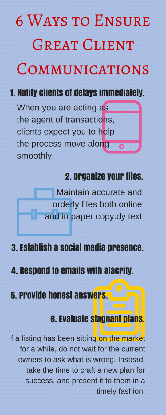 6 Ways to Ensure Great Client Communications Infographic