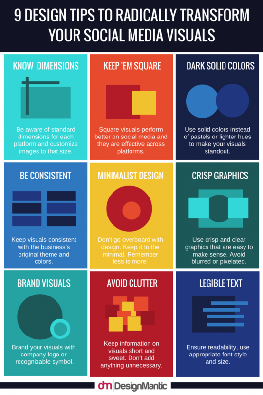 9 Design Tips To Radically Transform Your Social Media Visuals!