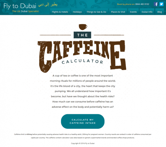 The Caffeine Calculator