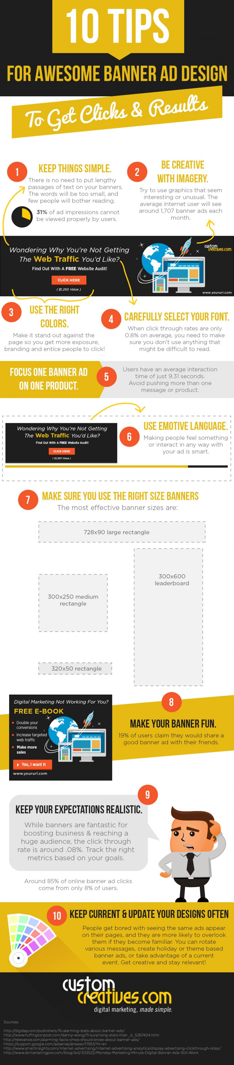 INFOGRAPHIC: 10 Tips for Awesome Banner Ad Design to Get Clicks and Results